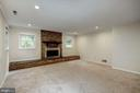 Lower Level -1 Family Rm w/ Wood-burning Fireplace - 8623 APPLETON CT, ANNANDALE