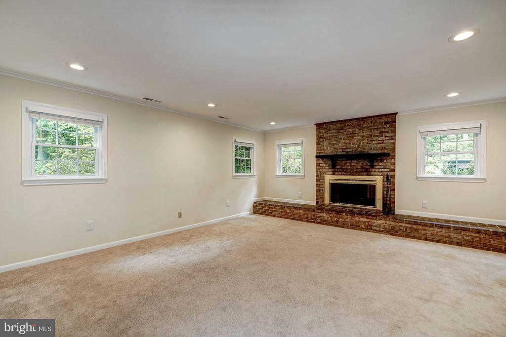 Lower Level 1 -Family Rm w/ Wood-burning Fireplace - 8623 APPLETON CT, ANNANDALE