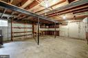 Lower Level 2 -unfinished basement View 2 - 8623 APPLETON CT, ANNANDALE
