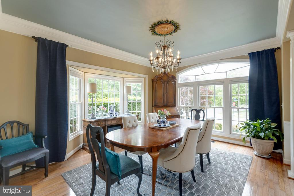 9 ft. ceilings and two-piece crown molding - 43262 TISBURY CT, CHANTILLY