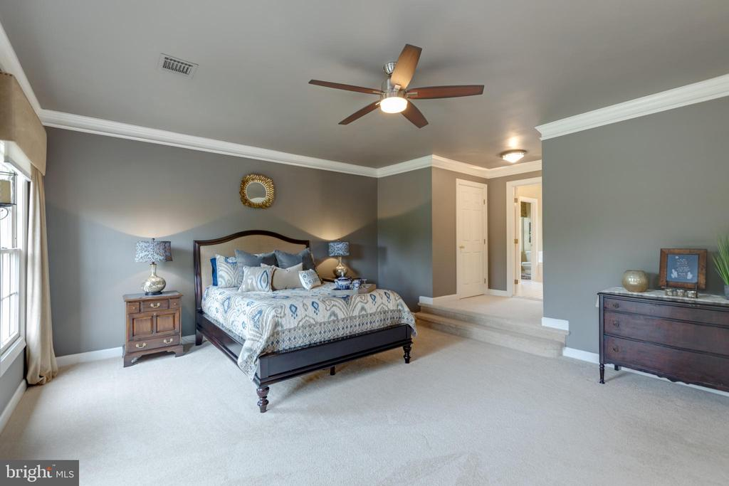 9ft ceiling and custom molding on upper level - 43262 TISBURY CT, CHANTILLY