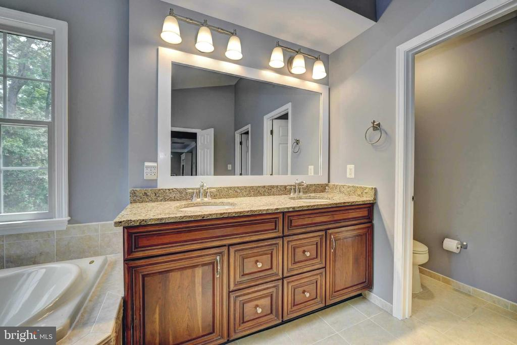 Master Bathroom double vanity and separate wc - 20305 MEDALIST DR, ASHBURN
