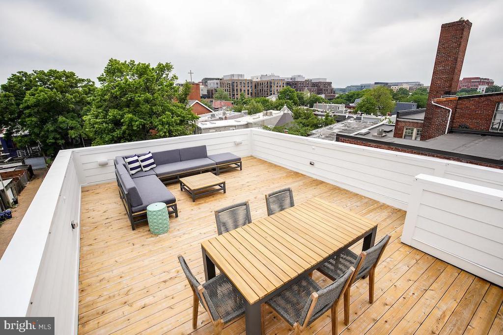 HUGE private roof deck... - 715 K ST NE #2, WASHINGTON
