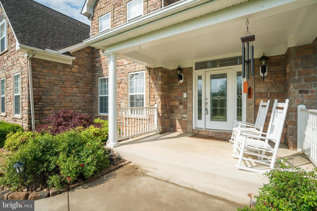 Porch & Full Glass Door with  Transom & Sidelites - 60 TURNSTONE CT, STAFFORD