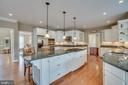 Large Kitchen Island also provides Bar Seating - 60 TURNSTONE CT, STAFFORD