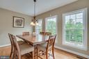 Bright Breakfast Area off Kitchen - 60 TURNSTONE CT, STAFFORD