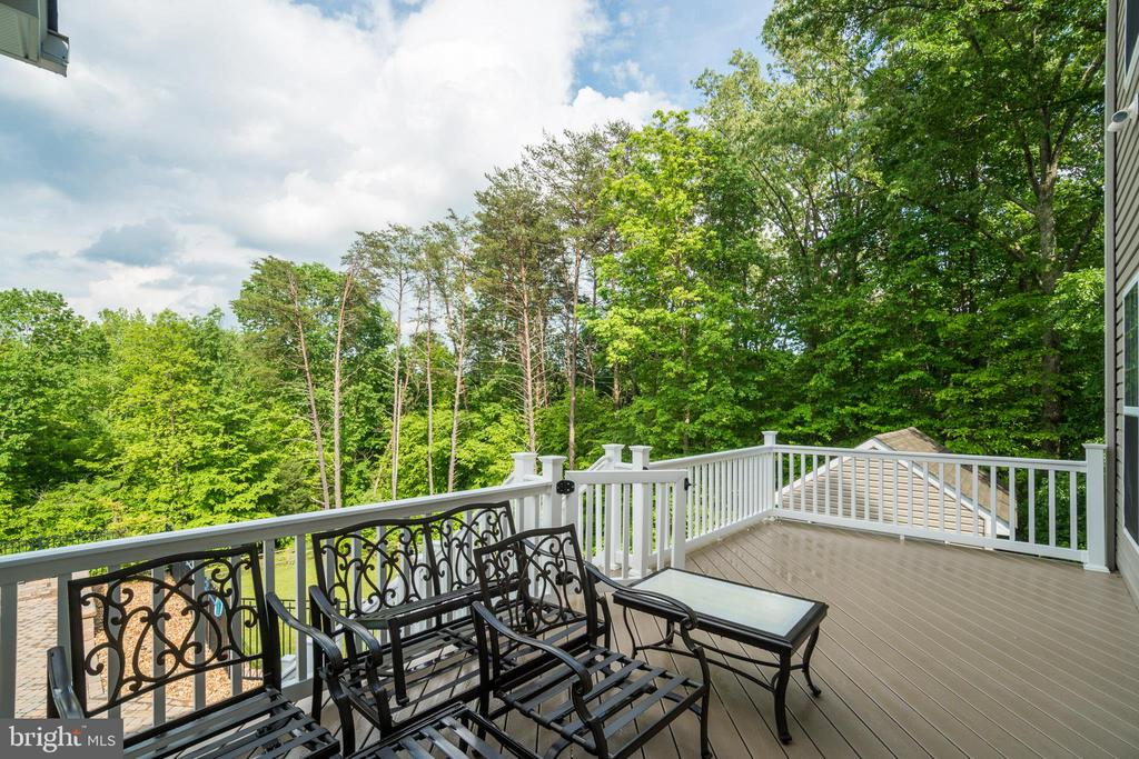 Upper Level Deck Overlooks Pool Below - 60 TURNSTONE CT, STAFFORD
