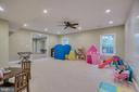 Huge playroom with Idea Paint Dry Erase Wall - 60 TURNSTONE CT, STAFFORD