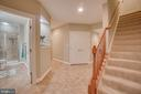 Basement Stairs & Hall with Elegant Gallery Cutout - 60 TURNSTONE CT, STAFFORD