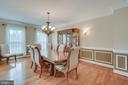 Formal Dining Room w/ Wainscoting & Crown Molding - 60 TURNSTONE CT, STAFFORD