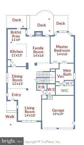 Main level - 629 DISKIN PL SW, LEESBURG