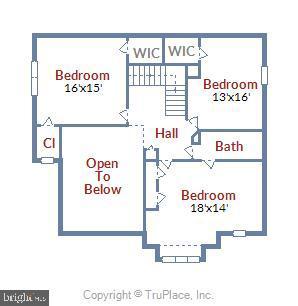 Upper level (bedroom level) - 629 DISKIN PL SW, LEESBURG