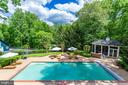 Sparkling pool with screened gazebo - 9179 OLD DOMINION, MCLEAN
