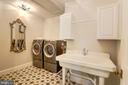 Laundry room on upper bedroom level - 7612 WOODRIDGE CIR, ALEXANDRIA