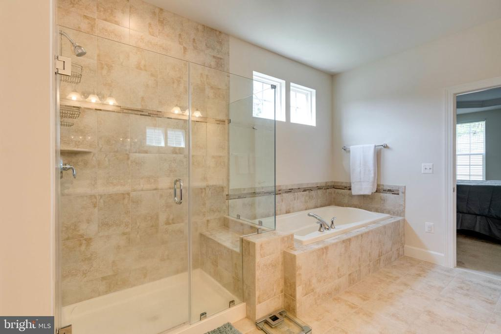 Beautiful shower and separate tub - 14 SORREL LN, STAFFORD