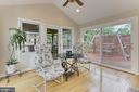 Sun room off Great room with vaulted ceiling - 210 N EDISON ST, ARLINGTON