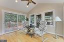 Great room accesses 2 side decks & rear porch - 210 N EDISON ST, ARLINGTON