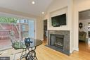 2 - way Gas FPL with Carrera Marble surround - 210 N EDISON ST, ARLINGTON