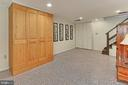 Lower level rec room with recessed lighting - 210 N EDISON ST, ARLINGTON