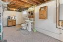 Utility room with half bath - 210 N EDISON ST, ARLINGTON