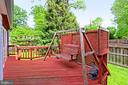 Rear deck with privacy fence - 210 N EDISON ST, ARLINGTON