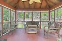 Rear screened porch with ceiling fan - 210 N EDISON ST, ARLINGTON