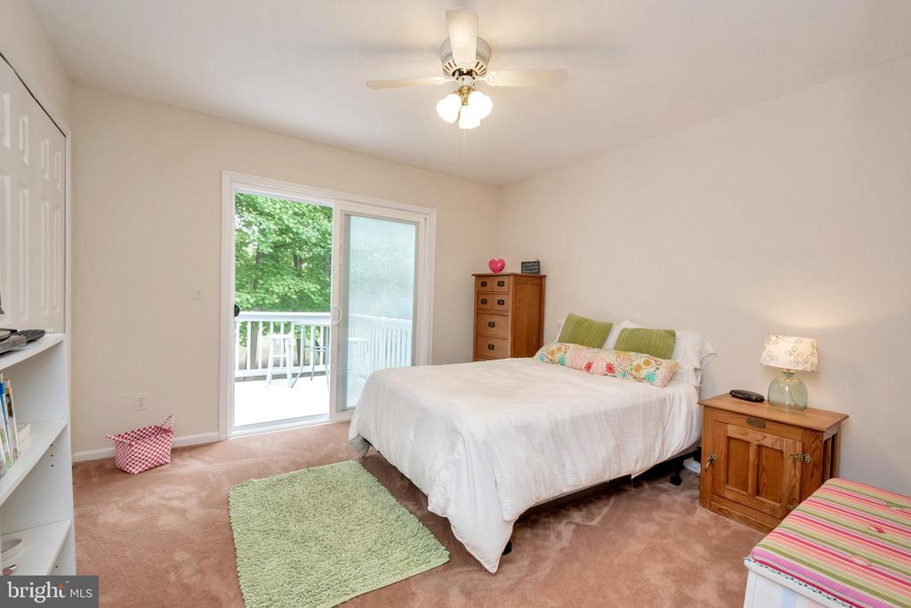 Bedroom #3  with access to deck - 107 GREEN ST, LOCUST GROVE