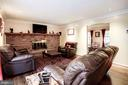 Family Room- Brick Wood Burning Fireplace - 2330 CLUB POND LN, RESTON