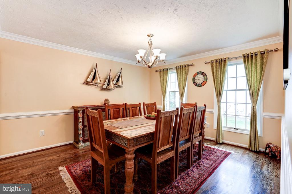 Dining Room W/ Chair Rail &  Crown Molding - 2330 CLUB POND LN, RESTON