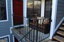 Front door and balcony - 7009 BIRKENHEAD PL #8C, ALEXANDRIA