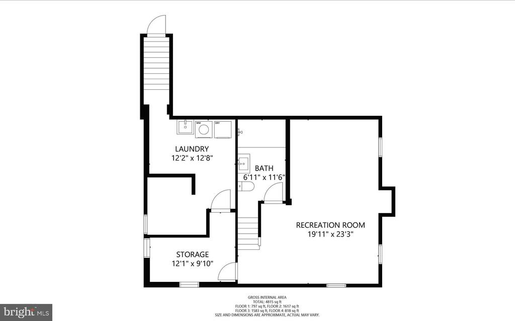 Lower Level - 3927 OLIVER ST, CHEVY CHASE