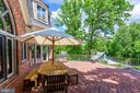 Dine al fresco on the brick terrace - 9179 OLD DOMINION, MCLEAN