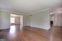 Formal living with moldings - 23210 DOVER RD, MIDDLEBURG