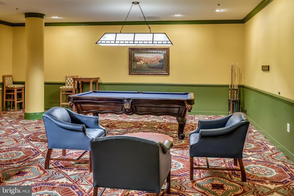 Billiard Room at clubhouse - 19355 CYPRESS RIDGE TER #416, LEESBURG