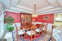 Beautiful traditional dining room - 11325 FAWN LAKE PKWY, SPOTSYLVANIA