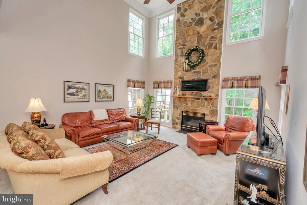 Soaring 2 story ceiling in Family room - 11325 FAWN LAKE PKWY, SPOTSYLVANIA