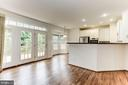 Access to Deck through French Doors - 8033 KIDWELL HILL CT, VIENNA
