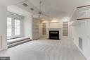 Fireplace in 4RTH LEVEL LOFT - 8033 KIDWELL HILL CT, VIENNA