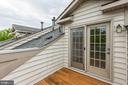 Access to Rooftop Deck through French Doors - 8033 KIDWELL HILL CT, VIENNA