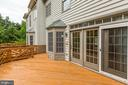 Deck has Stairs down to the Patio and fenced yard - 8033 KIDWELL HILL CT, VIENNA