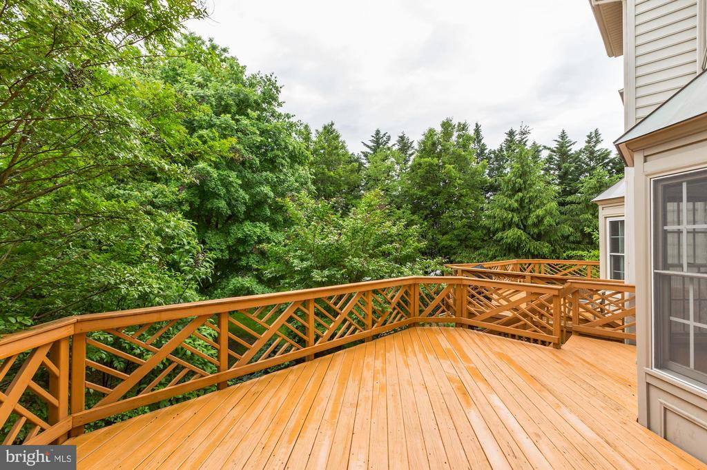 Huge Deck backing to trees - 8033 KIDWELL HILL CT, VIENNA