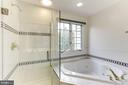 Luxury MBR w/Jacuzzi Tub and  Frameless  Shower - 8033 KIDWELL HILL CT, VIENNA