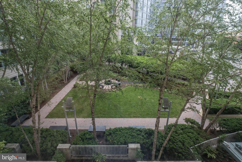 Courtyard views from the windows - 851 N GLEBE RD #320, ARLINGTON