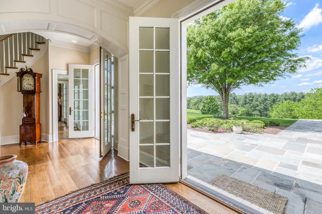 French doors to rear blue stone terrace - 2200 GADD RD, COCKEYSVILLE