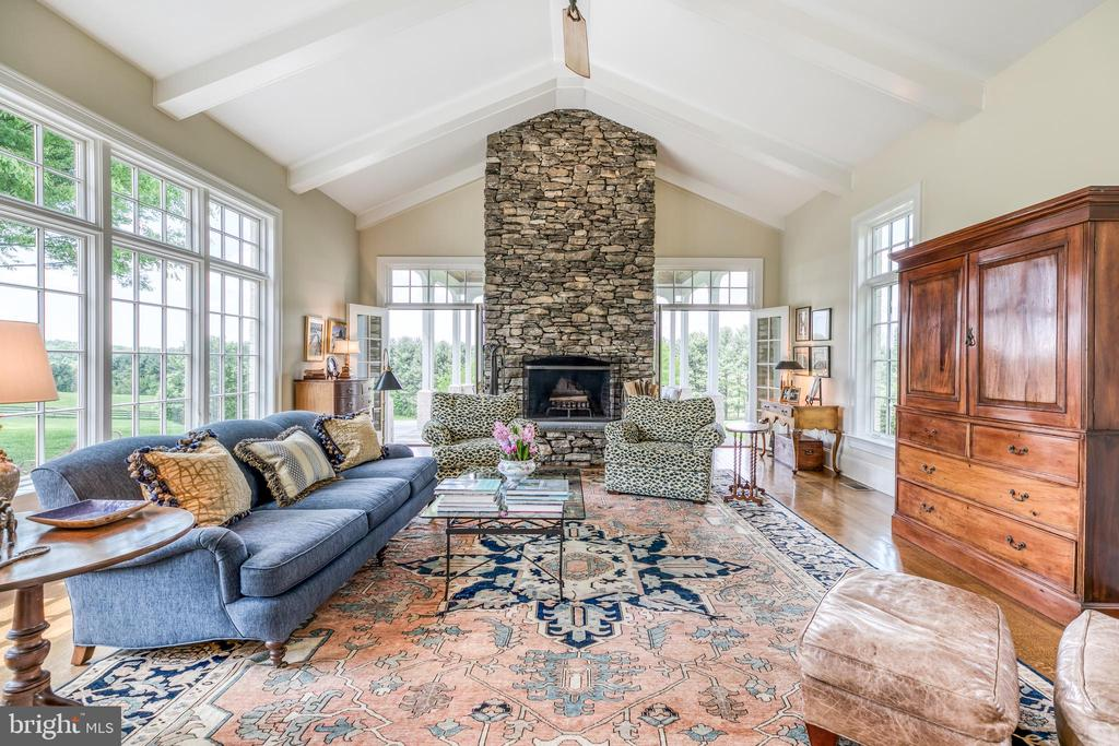 Family Room w/stacked stone wood burning fireplace - 2200 GADD RD, COCKEYSVILLE