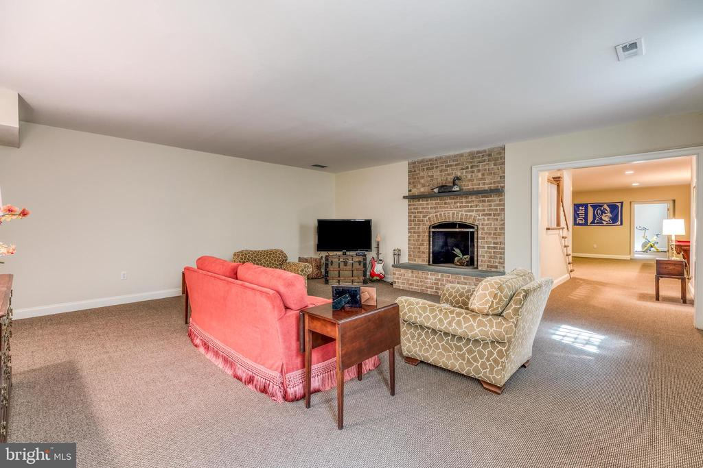 Second Family Room with wood burning fireplace - 2200 GADD RD, COCKEYSVILLE