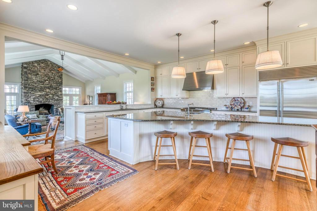 Kitchen 13-foot island; opens to Family Room - 2200 GADD RD, COCKEYSVILLE