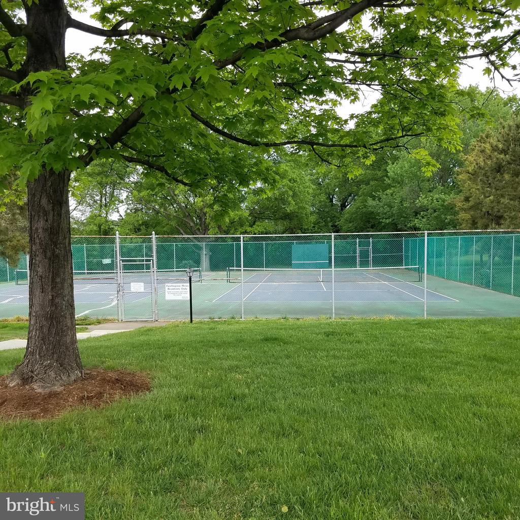 Double tennis courts and back board in Court 6 - 4668 36TH ST S #B, ARLINGTON