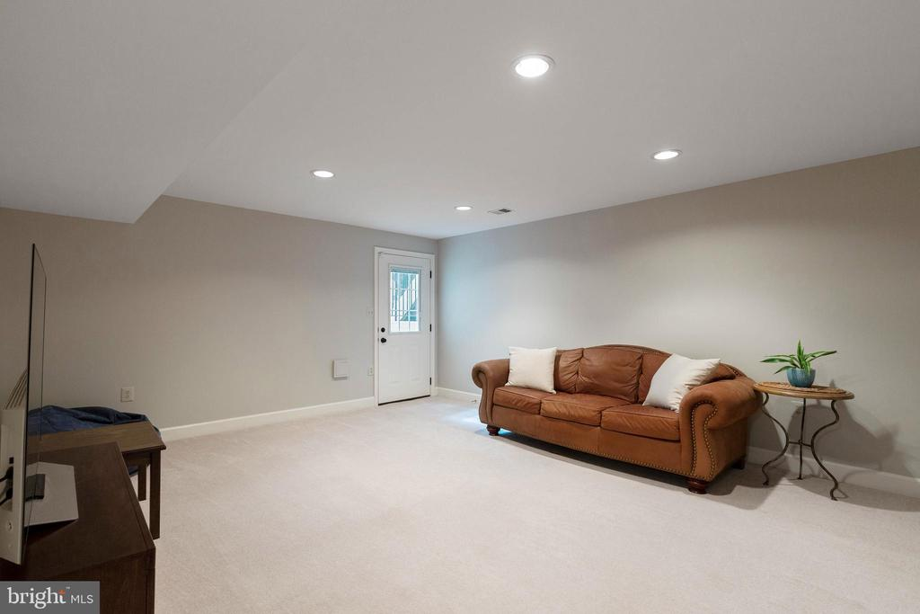Rec room with walk-up, New Door - 21384 CLAPPERTOWN DR, ASHBURN