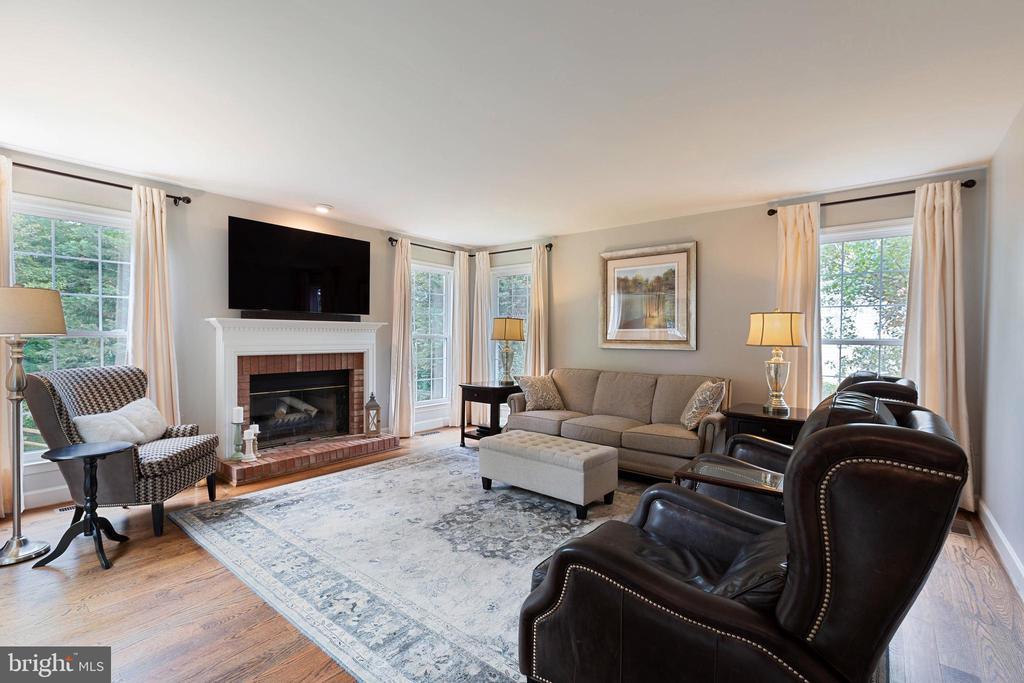 Light and Bright Family room opens to deck - 21384 CLAPPERTOWN DR, ASHBURN